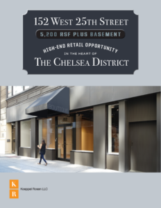 152 West 25th Street Retail Leasing Brochure